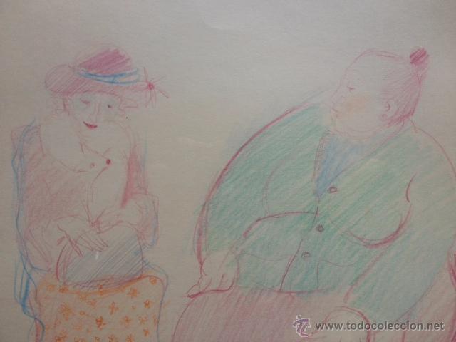 Arte: DIBUJO COLOR FIRMADO EMILIA CASTAÑEDA, ENMARCADO - Foto 2 - 50720540