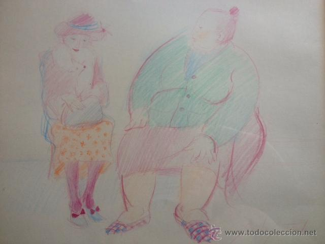 Arte: DIBUJO COLOR FIRMADO EMILIA CASTAÑEDA, ENMARCADO - Foto 3 - 50720540