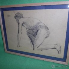 Arte: RARO EXCELENTE DIBUJO ALEMAN BAUHAUS ELEGANTE CORREDOR LAPIZ ART DECO MODERNISTA 1911 . Lote 50749745