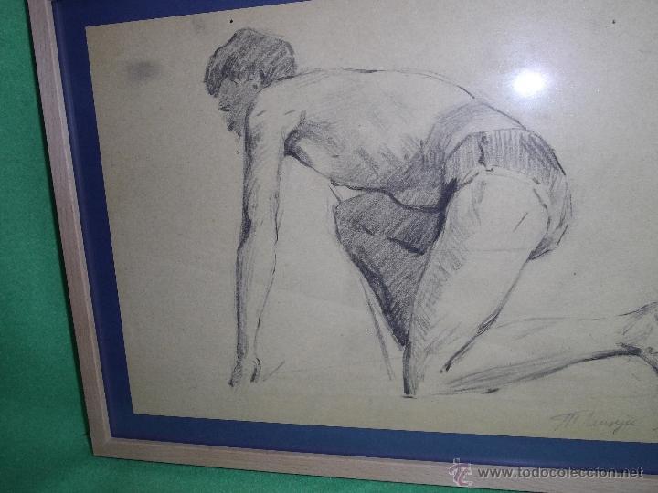 Arte: RARO EXCELENTE DIBUJO ALEMAN BAUHAUS ELEGANTE CORREDOR LAPIZ ART DECO MODERNISTA 1911 - Foto 2 - 50749745