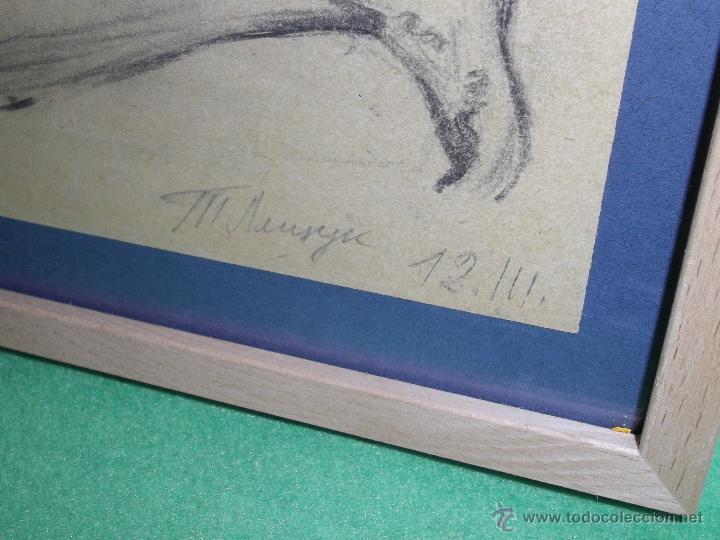 Arte: RARO EXCELENTE DIBUJO ALEMAN BAUHAUS ELEGANTE CORREDOR LAPIZ ART DECO MODERNISTA 1911 - Foto 3 - 50749745