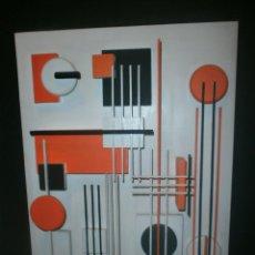 Arte: ABSTRACTO ARQUITECTURA MADERAS PINTADAS EN RELIEVE - FIRMADO - MEDIDA 84,5 X 53 CM. OTROARTE. Lote 50905101