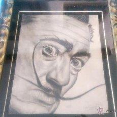 Arte: DIBUJO ORIGINAL AL CARBON CON EL ROSTRO DE DALÍ, FIRMADO A. MINGUEZ 1950. Lote 50984650