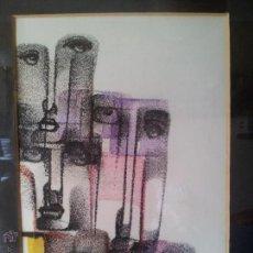 Arte: DIBUJO ORIGINAL TECNICA MIXTA CERA- PASTEL...FIRMADA POR AUTOR .....ILEGIBLE. Lote 51000210
