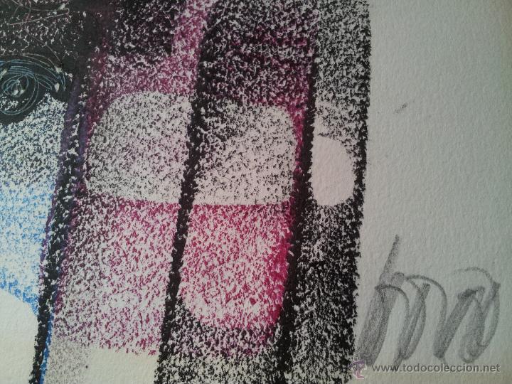 Arte: dibujo original tecnica mixta cera- pastel...firmada por autor .....ilegible - Foto 5 - 51000210