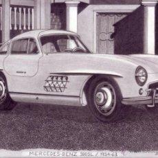 Arte: DIBUJO HIPERREALISTA (AUTOMÓVIL). * MERCEDES-BENZ 300SL 1954-1963 * (LÁPIZ). DE D. NAVASCUÉS. Lote 51031817