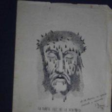 Arte: EXCELENTE Y ANTIGUO DIBUJO ORIGINAL FIRMADO SANTA FAZ CATALUÑA. Lote 51086867