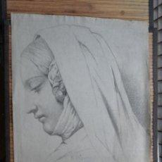 Arte: CECILIO PIZARRO. DAMA DE PERFIL. Lote 51091525