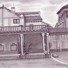 Arte: DIBUJO HIPERREALISTA (EDIFICIO). * CASA DEL PINTOR EL GRECO EN TOLEDO * (LÁPIZ). DE D. NAVASCUÉS. Lote 51138268