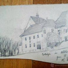 Arte: INTERESANTE BOCETO ORIGINAL A LAPIZ, FIRMADO Y FECHADO 1887. Lote 51171359