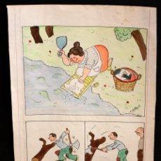 Arte: CONJUNTO DE 11 DIBUJOS (GOUACHES) DEL ARTISTA SOLDEVILA. AÑOS 30-40. Lote 51244999