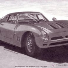 Arte: DIBUJO HIPERREALISTA (AUTOMÓVIL). * BIZZARRINI GT STRADA 5300 1963-1969 * (LÁPIZ). DE D. NAVASCUÉS.. Lote 51481402