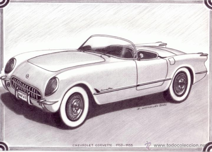 Dibujos De Chevrolet Corvett | www.imagenesmy.com
