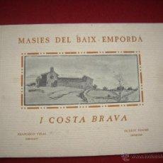 Arte: MASIES DEL BAIX-EMPORDÀ, 25 DIBUJOS DE FRANCISCO VIDAL + 2 LÁMINAS. ED.OCTAVI VIADER IMPRESSOR 1923. Lote 51628450