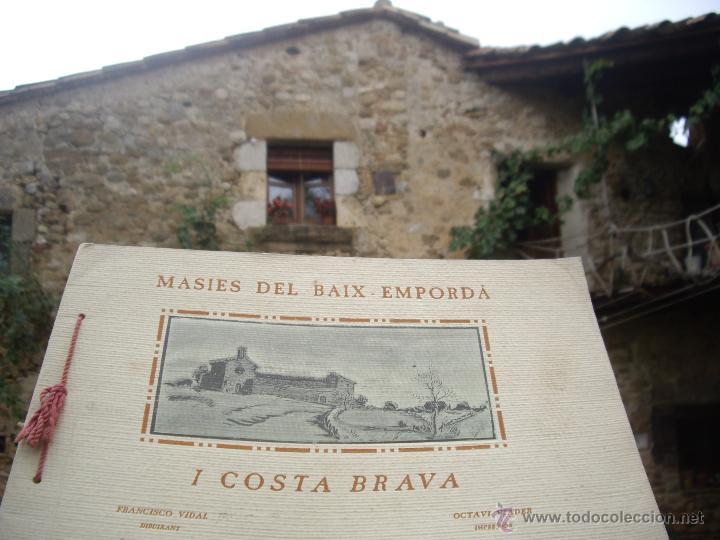 Arte: MASIES DEL BAIX-EMPORDÀ, 25 dibujos de Francisco Vidal + 2 láminas. Ed.Octavi Viader impressor 1923 - Foto 2 - 51628450