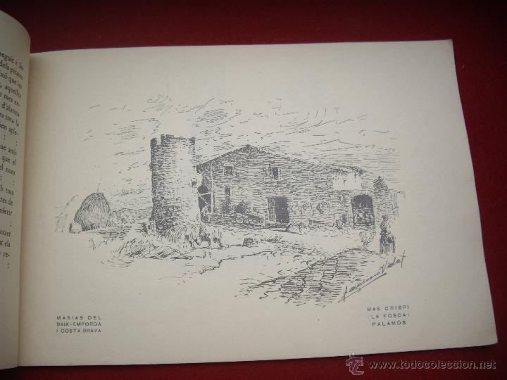 Arte: MASIES DEL BAIX-EMPORDÀ, 25 dibujos de Francisco Vidal + 2 láminas. Ed.Octavi Viader impressor 1923 - Foto 6 - 51628450