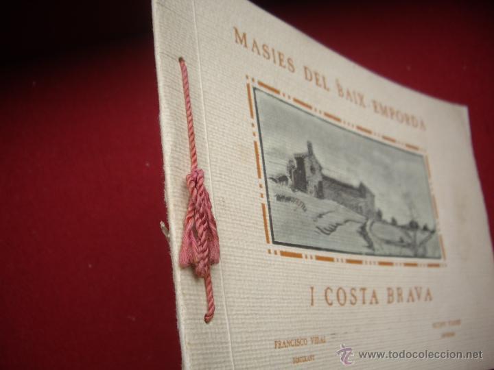 Arte: MASIES DEL BAIX-EMPORDÀ, 25 dibujos de Francisco Vidal + 2 láminas. Ed.Octavi Viader impressor 1923 - Foto 9 - 51628450