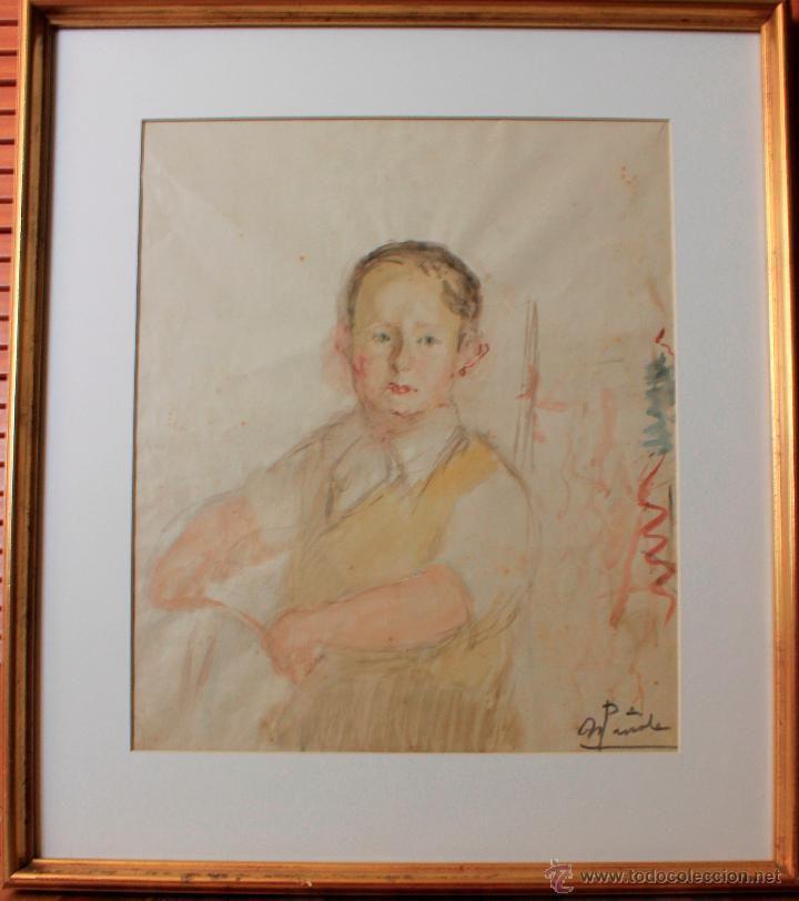 NICANOR PIÑOLE RODRIGUEZ, RETRATO DE NIÑO (Arte - Dibujos - Contemporáneos siglo XX)