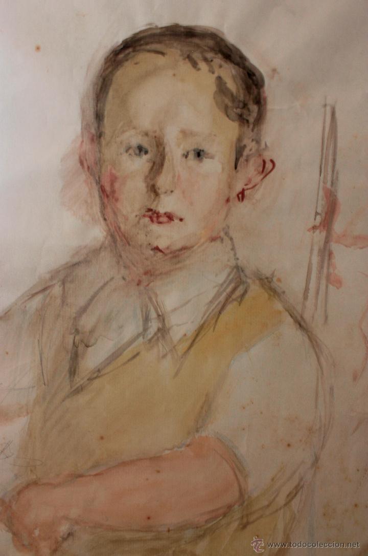 Arte: NICANOR PIÑOLE RODRIGUEZ, Retrato de niño - Foto 2 - 51628610