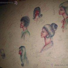 Arte: ALICANTE DIBUJOS ANTIGUOS RETRATOS Y OTROS, APUNTES EN FRANCES Y CASTELLANO. Lote 44142209
