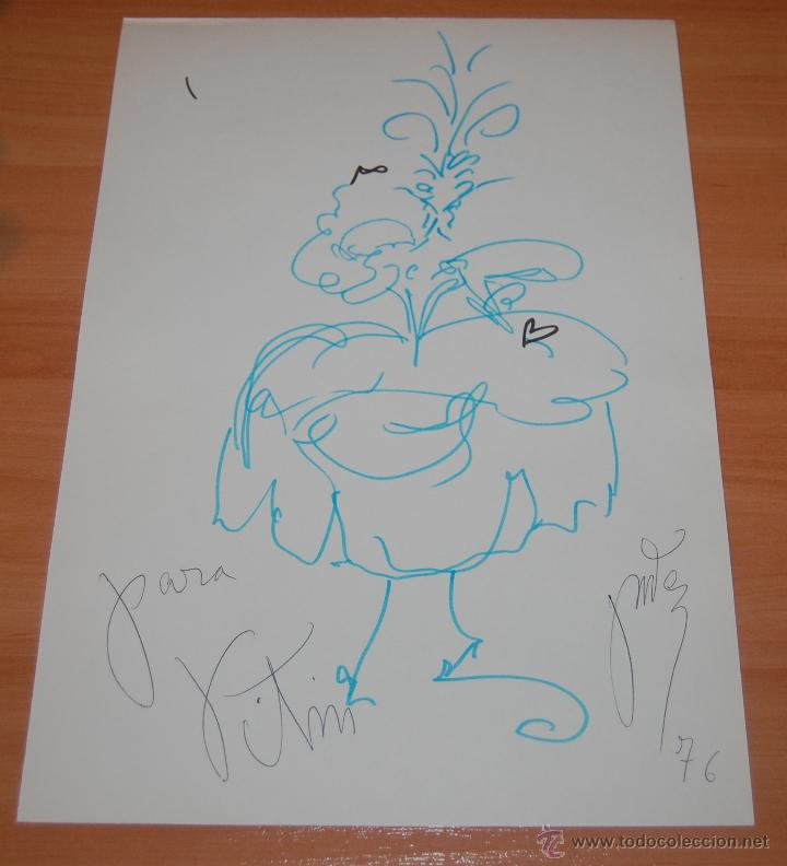 PRECIOSO DIBUJO ORIGINAL MUJER VENECIANA VICTOR MARIA CORTEZO VITIN CORTEZO 1976. (Arte - Dibujos - Contemporáneos siglo XX)