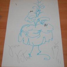 Arte: PRECIOSO DIBUJO ORIGINAL MUJER VENECIANA VICTOR MARIA CORTEZO VITIN CORTEZO 1976.. Lote 51887042