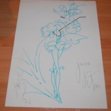 Arte: MAGNIFICO DIBUJO ORIGINAL TROVADOR ARLEQUIN VICTOR MARIA CORTEZO VITIN CORTEZO 1976.. Lote 51887138