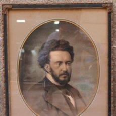 Arte: MÚSICO O PIANISTA POR IDENTIFICAR, CARBONCILLO SOBRE PAPEL, FECHADO EN REVERSO DEL PAPEL: 1886.. Lote 51924297