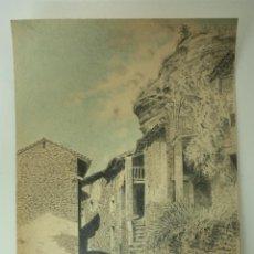 Arte: DIBUJO ORIGINAL A LÁPIZ DE RUPIT (BARCELONA) SIN FIRMAR 1941 - BUEN ESTADO!!. Lote 51926779