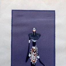 Arte: DIBUJO AFRICANO. FIRMADO 1978. ENVIO CERTIFICADO INCLUIDO.. Lote 51927525