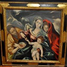 Arte: RAFAEL DURANCAMPS I FOLGUERA (SABADELL 1891 - 1979) OLEO SOBRE TELA. FRAGMENTO DEL GRECO. Lote 51932885