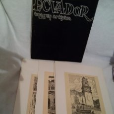 Arte: CARPETA DIBUJOS ECUADOR IMAGEN ARTÍSTICA-DEL PINTOR Y DIBUJANTE JOSE MARÍA ROURA OXANDABERRO. Lote 177458727