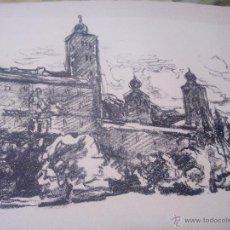 Arte: CARBONCILLO PAISAJE ABSTRACTO. FIRMADO V SIABEK. AÑOS 40. Lote 52328307