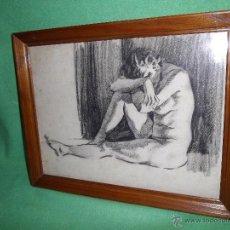 Arte: GRAN DIBUJO AÑOS 40 PASTEL ORIGINAL HARRY ARTHUR RILEY ILUSTRACIÓN PIN UP DESNUDO MUJER DAMA. Lote 52331041