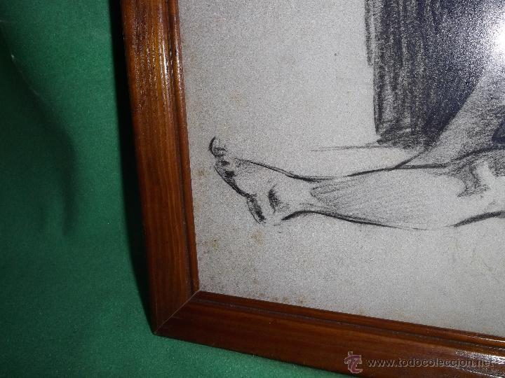 Arte: Gran dibujo años 40 pastel original Harry Arthur Riley ilustración pin up desnudo mujer dama - Foto 3 - 52331041