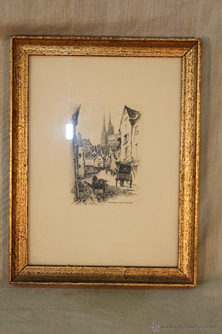 DIBUJO TINTA ORIGINAL FIRMADO (Arte - Dibujos - Modernos siglo XIX)