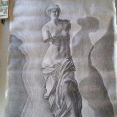 Arte: GRAN LOTE DE 7 DIBUJOS ACADEMICOS A CARBONCILLO - ANONIMOS CON FIRMA CORTADA - GRAN TAMAÑO. Lote 52487825