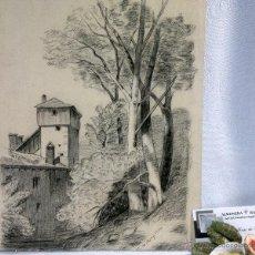Arte: DIBUJO A LAPICERO EN PAPEL, FECHADO, SIGLO XIX. Lote 52520104
