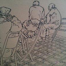 Arte: BONITA ESCENA TINTA SOBRE PAPEL FIRMADO A.SEMPERE ENMARCADA . CIRCA 1960S. Lote 52553012