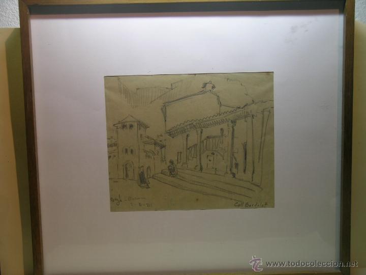 DIBUJO DE COLL BARDOLET - DEYÁ (Arte - Dibujos - Contemporáneos siglo XX)
