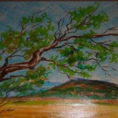 Arte: DIBUJO A CERAS PAISAJE VERTICAL. Lote 52738593