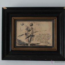 Arte: PEQUEÑA PLUMILLA TAURINA DE ANTONIO CASERO, 1950. 14 X 9,5. Lote 52760556