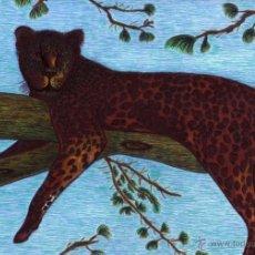 Arte: DIBUJO HIPERREALISTA (ANIMALES VARIOS). * LEOPARDO * (TÉCNICA MIXTA). DE D. NAVASCUÉS.. Lote 52856456