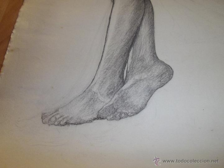 Arte: Bello dibujo desnudo mujer dama XIX Alemania original ilustración Art Deco Bauhaus modernista - Foto 4 - 52929882