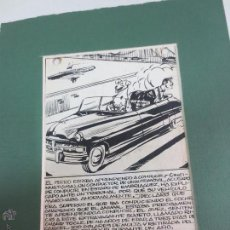 Arte: BOCETO ORIGINAL TINTA CHINA PARA COMIC AÑOS 50. Lote 53116861