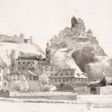 Arte: AGUADA: AUGUSTUS J. CUTHBERT HARE (1834-1903) SION, RHONE VALLEY. Lote 53203078