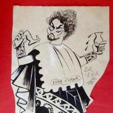 Arte: DIBUJO A TINTA. JOSE LUIS DAVILA, 1912-1977. COME Y CALLA. ENVIO INCLUIDO EN EL PRECIO.. Lote 53222432