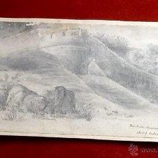 Arte: DIBUJO DOBLE A LAPIZ.. REVOLUCION-GUERRAS INDIAS 1857 .ENVIO CERTIFICADO INCLUIDO EN EL PRECIO.. Lote 53280773