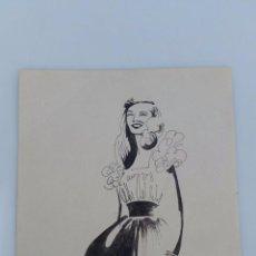 Arte: DIBUJOS DE MODA - BOCETOS ORIGINALES DE LUELLA RAMSAY - 1946. Lote 53318481