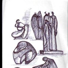 Arte: ANTONIO ABAD - GIL, ESCULTOR (CUENCA,1921 – LLEIDA, 1987). DIBUJO TINTA/PAPEL. 30 X 21 CMT. Lote 53624703